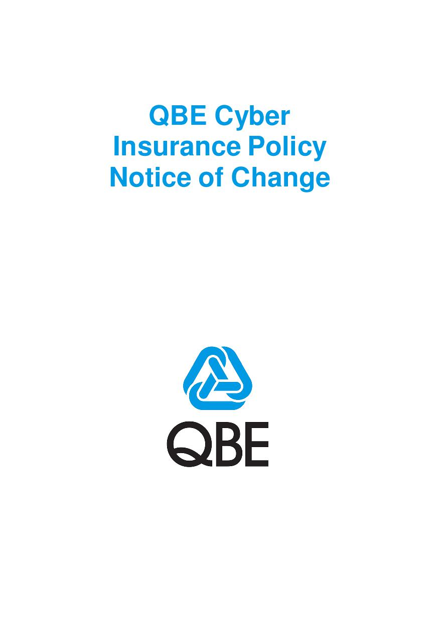NCYS060321 QBE Cyber Insurance Notice of Change