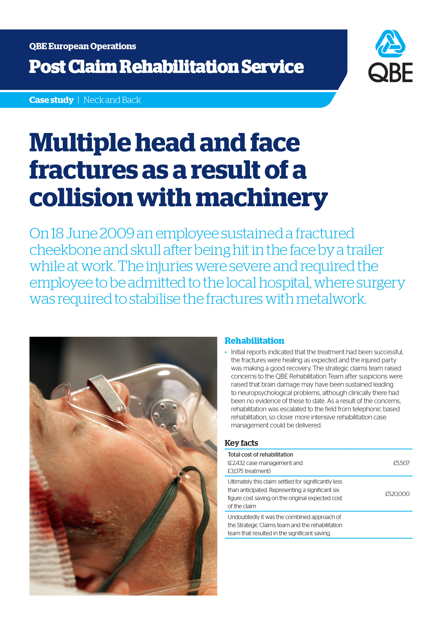 Multiple serious crush injuries as a result of heavy machinery falling