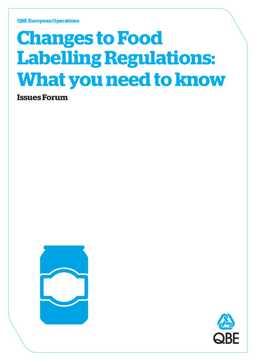 QBE Issues Forum - Food Labelling (PDF 2.7Mb)