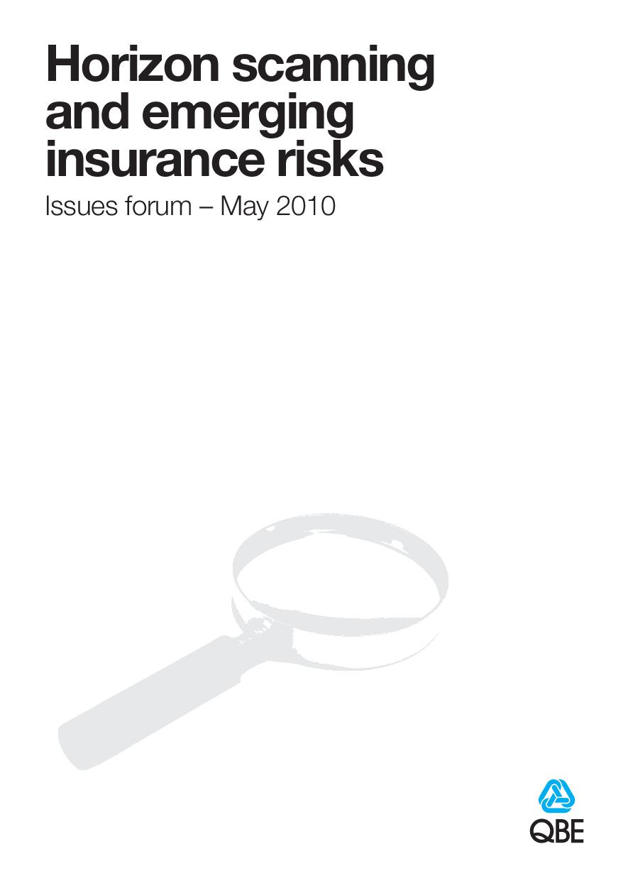 QBE Issues Forum - Horizon scanning and emerging insurance risks (PDF 2.9Mb)