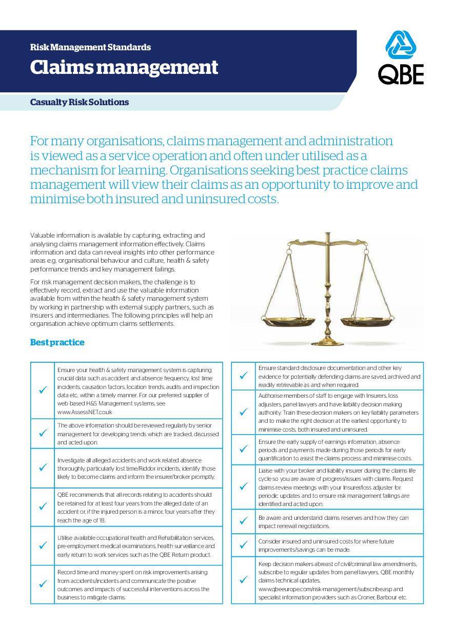 Claims Management (PDF 135Kb)