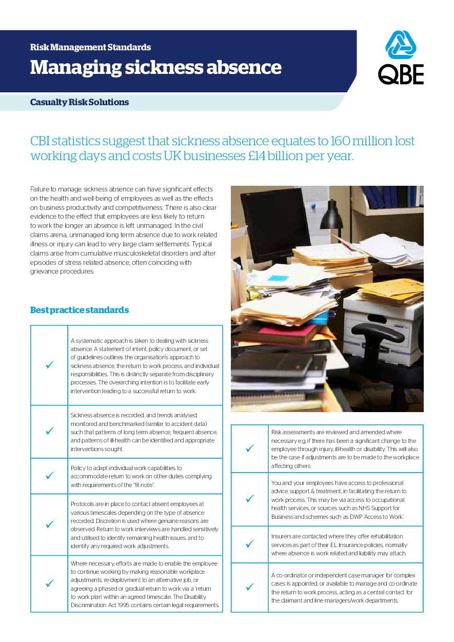 Managing Sickness Absence (PDF 139Kb)