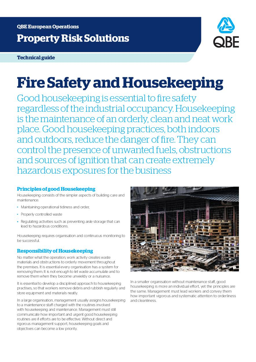 Fire Safety and Housekeeping (PDF 602Kb)