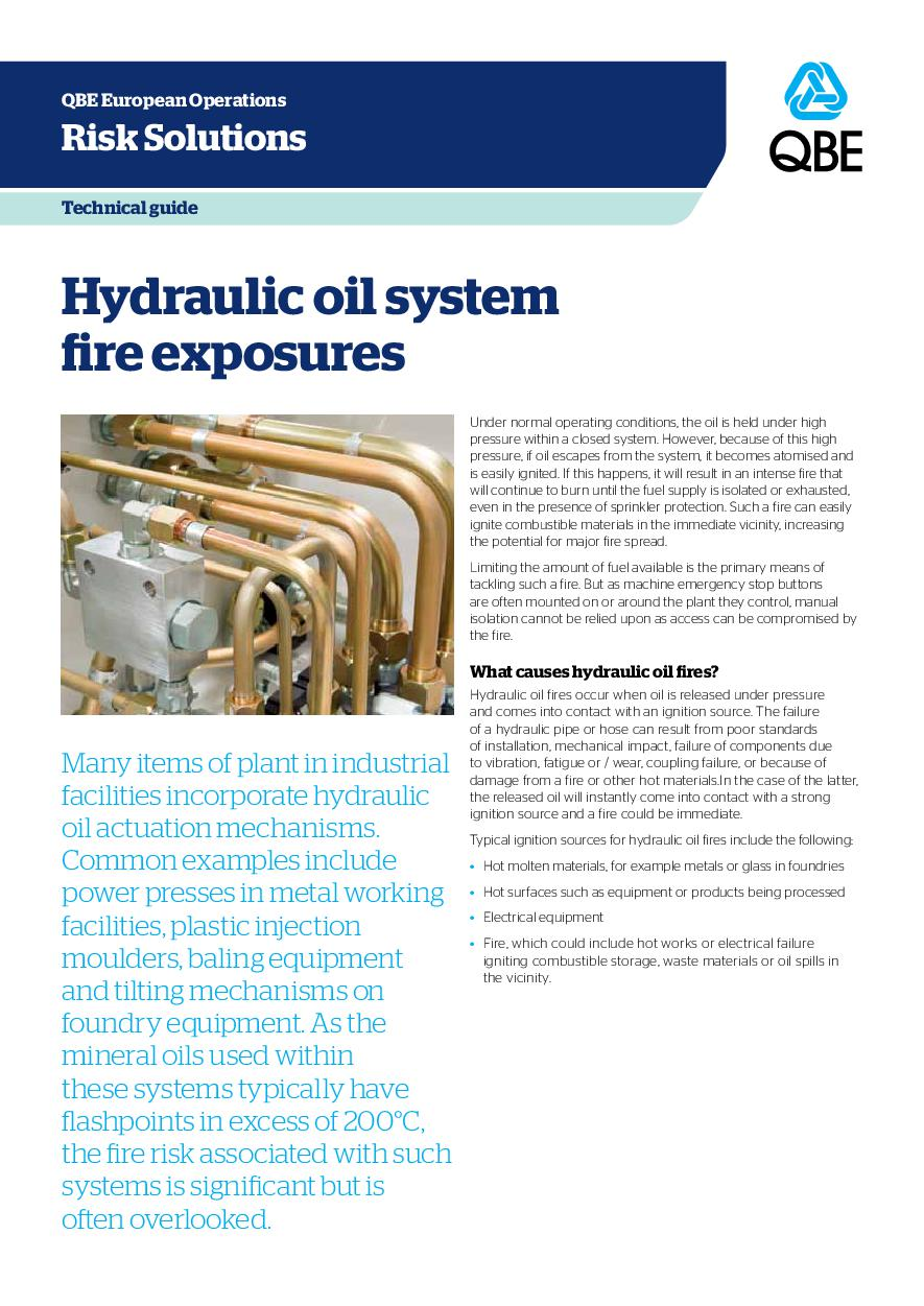 Hydraulic Oil System Fire Exposures (PDF 397Kb)