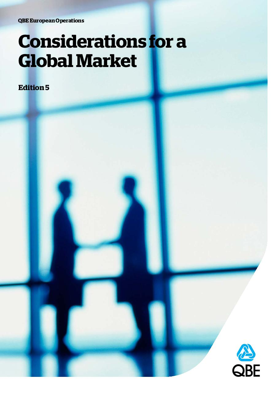 Considerations for a global market (PDF 496Kb)