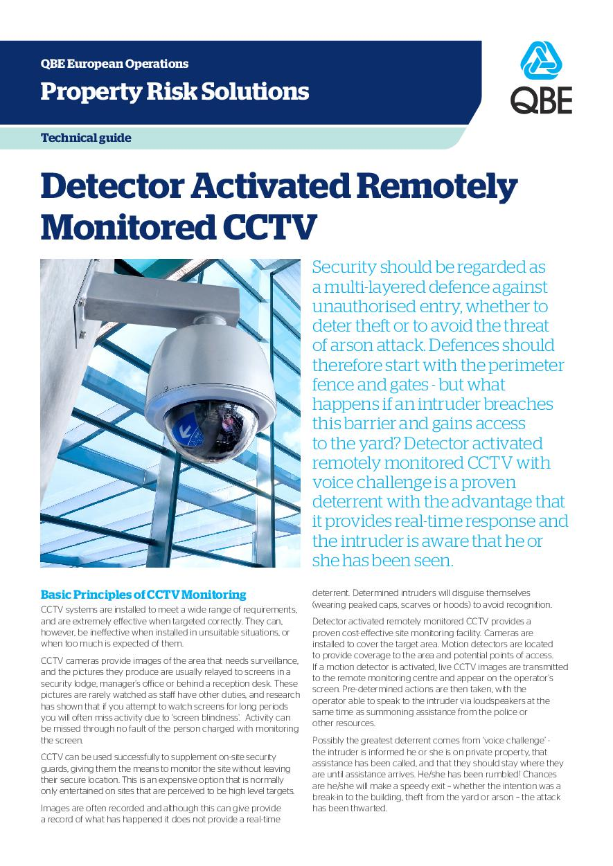 Detector Activated Remotely Monitored CCTV (PDF 1.5Mb)
