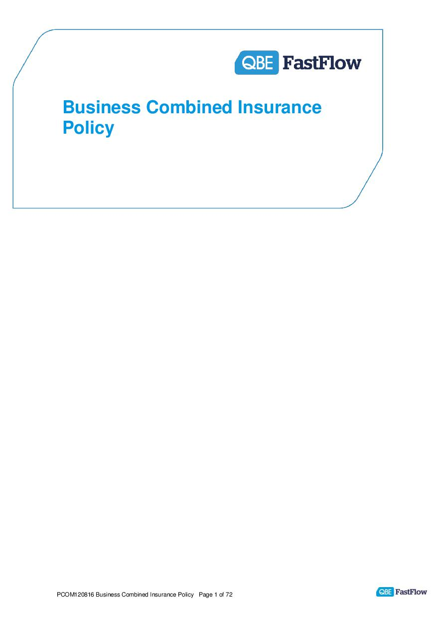 PCOM120816 Business Combined Policy (PDF 676Kb)