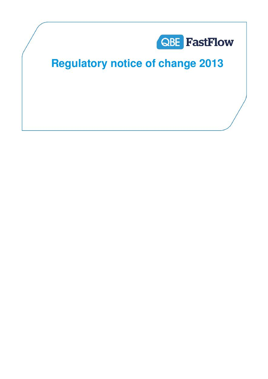 ARCHIVE - NFFW030913 FastFlow Regulatory Notice of Change 2013
