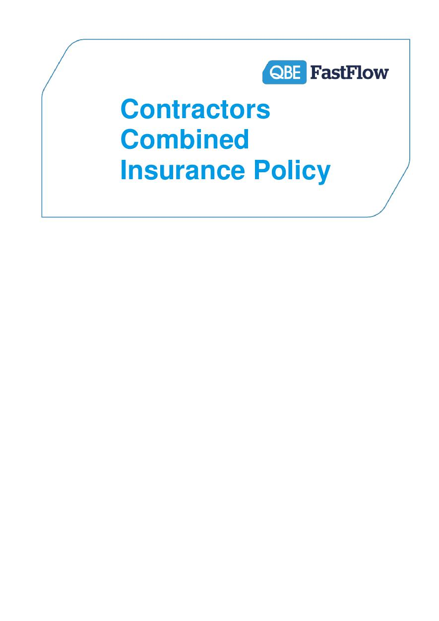 ARCHIVE - PCPP120816 Fastflow Contractors' Combined Policy