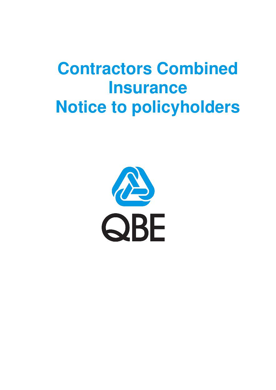 Contractors Combined Notice to Policyholders (PDF 209Kb)