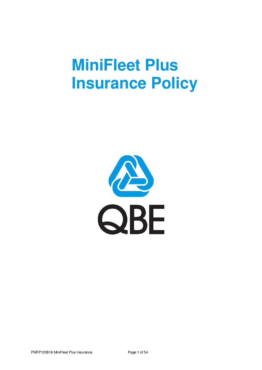 PMFP120816 MiniFleet Plus Insurance Policy (PDF 598Kb)