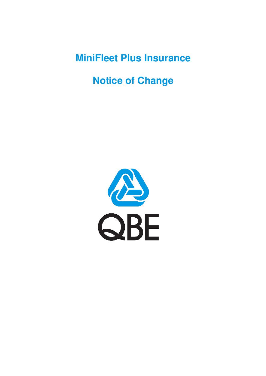 NMFP120816 MiniFleet Plus Insurance - Notice of Change (PDF 193Kb)