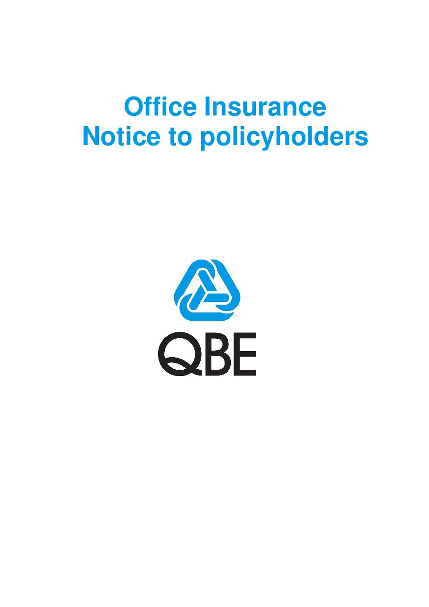 Office Notice to Policyholders