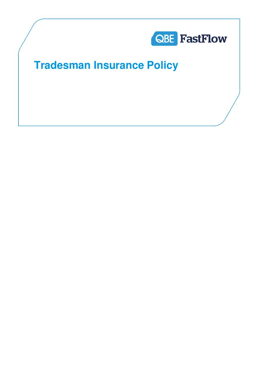 ARCHIVE - PTRA120816 Tradesman Insurance Policy (PDF 528Kb)