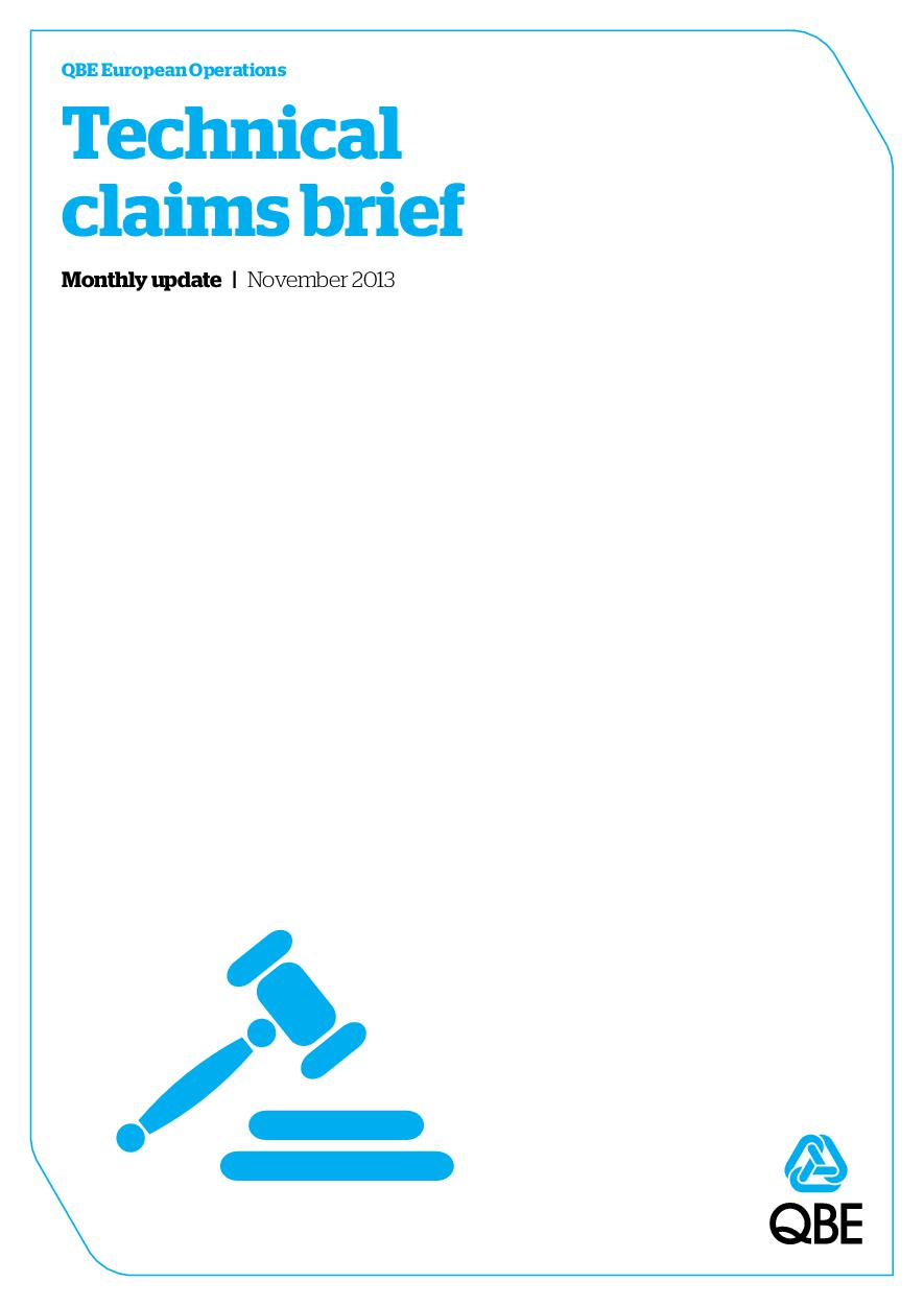 Technical Claims Brief - November 2013 (PDF 864Kb)