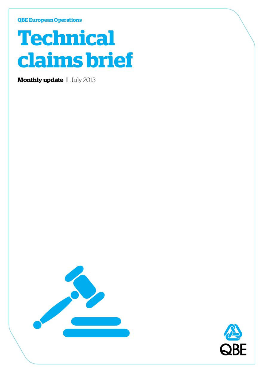 Technical Claims Brief - July 2013 (PDF 1.2Mb)