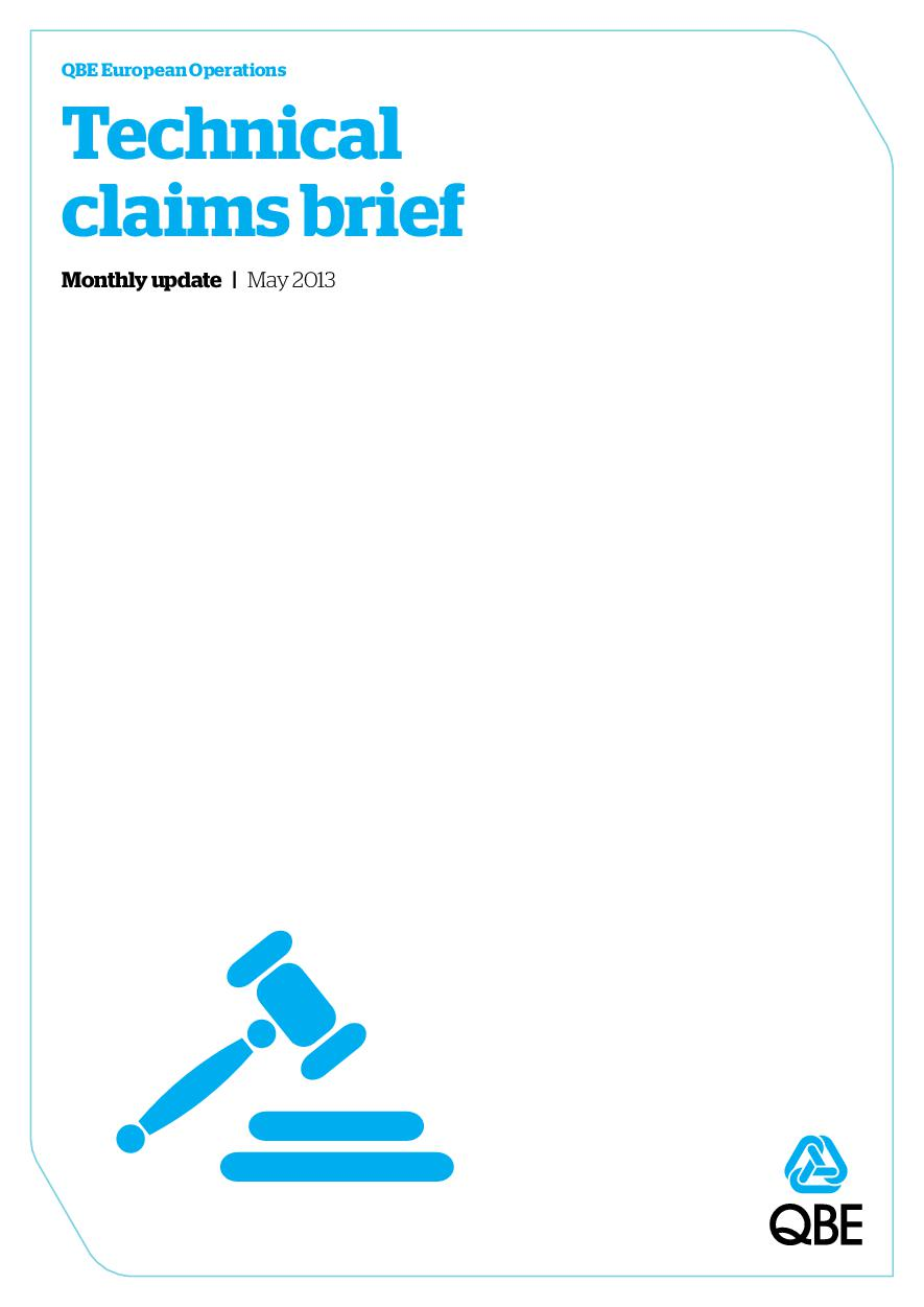 Technical Claims Brief - May 2013 (PDF 768Kb)