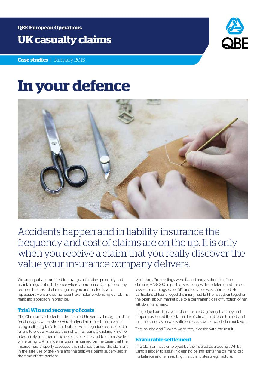 In Your Defence - January 2015 (PDF 339Kb)
