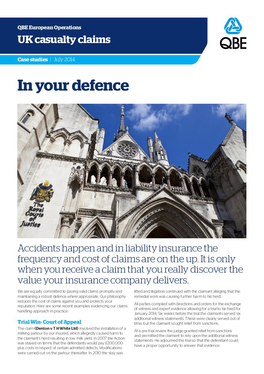 In Your Defence - July 2014 (PDF 1.3Mb)