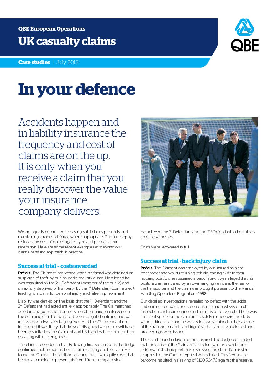 In Your Defence - July 2013 (PDF 915Kb)