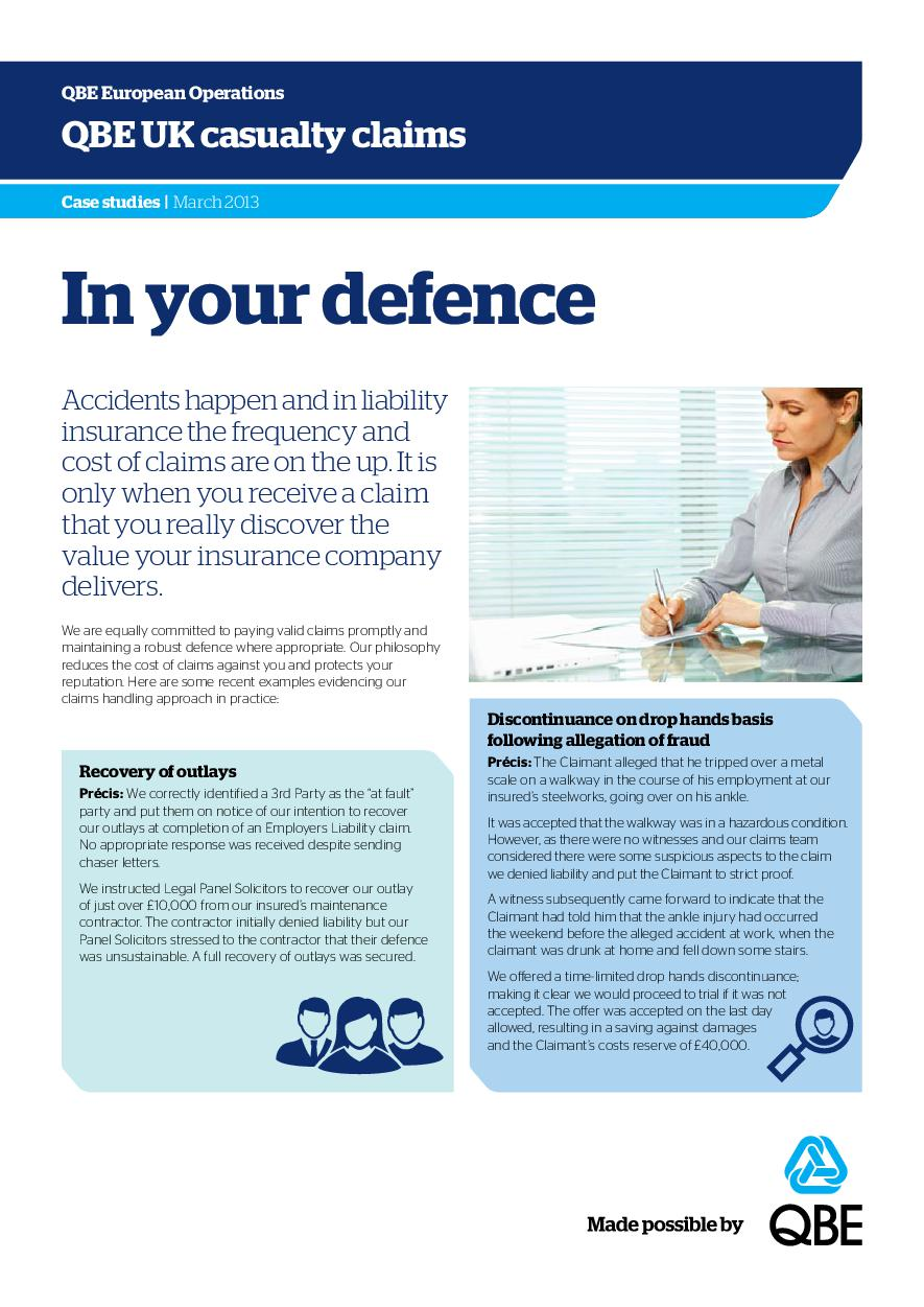 In Your Defence - March 2013 (PDF 278Kb)