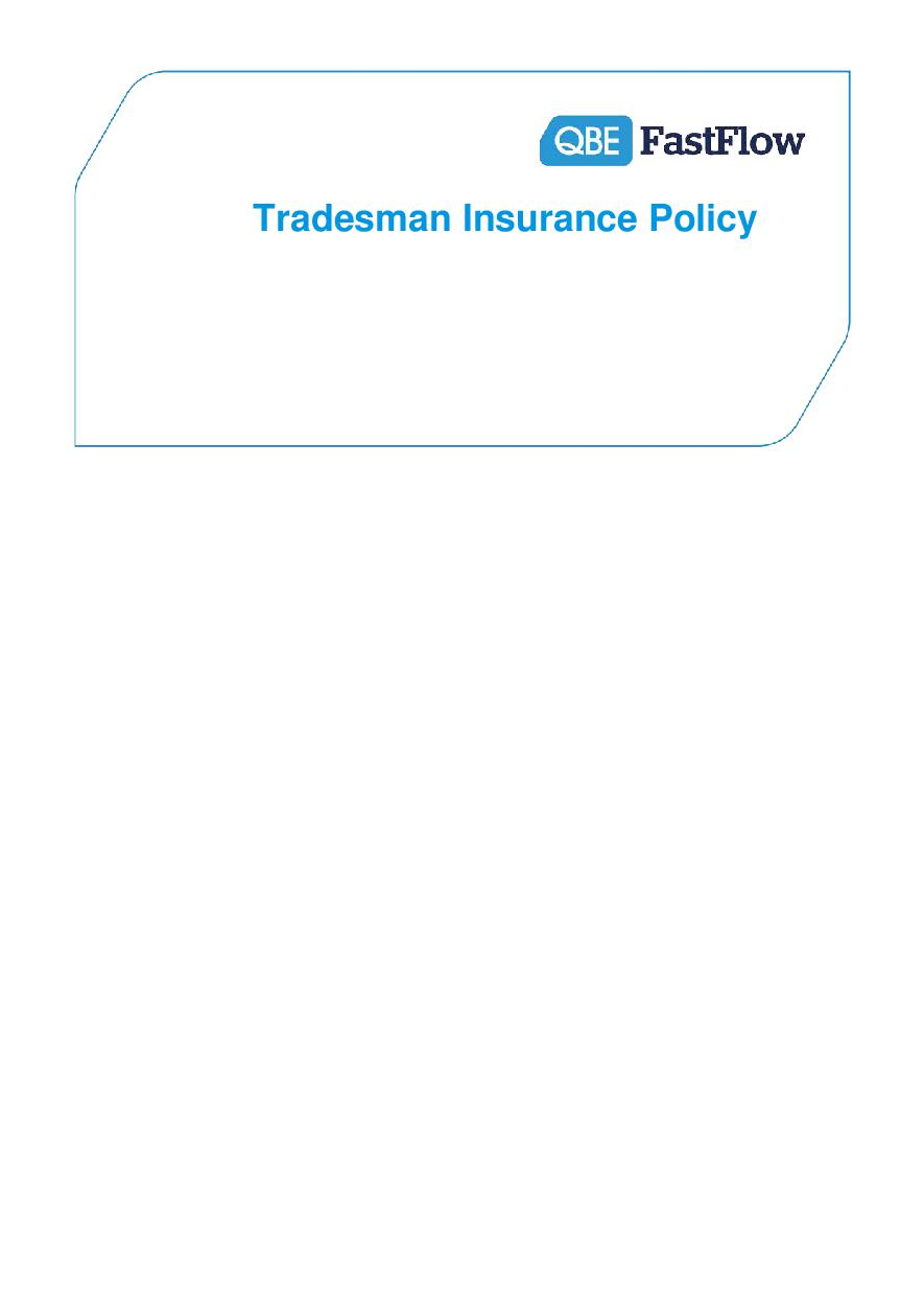 ARCHIVE - PTRA060915 FastFlow Tradesman Insurance Policy (PDF 717Kb)