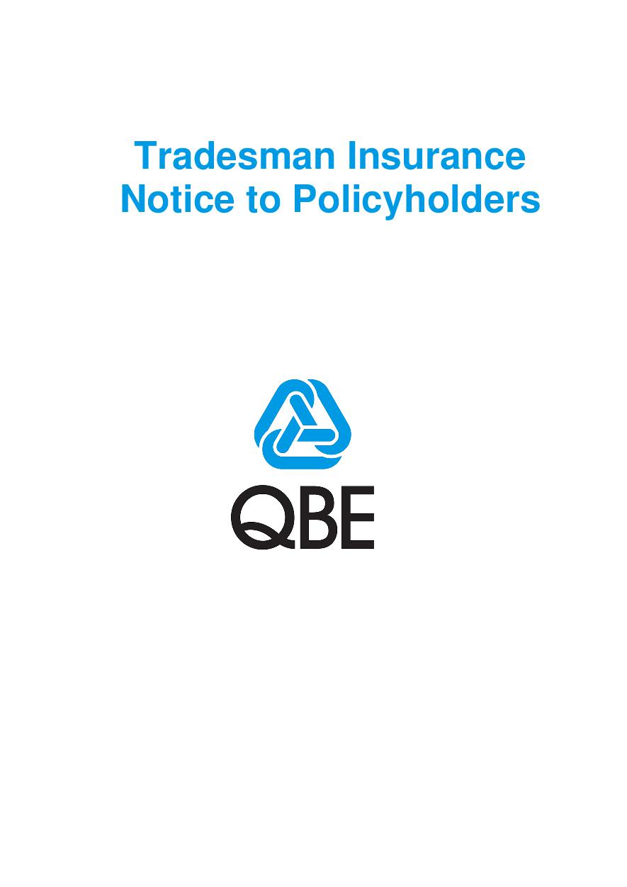 Tradesman Notice to Policyholders (PDF 209Kb)