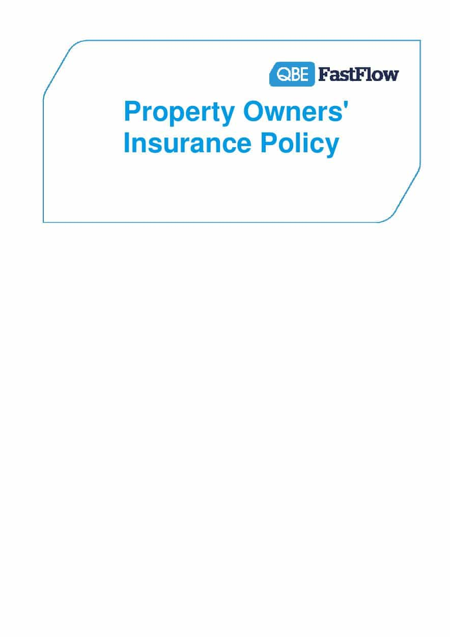 ARCHIVE - PPOF010914 FastFlow Property Owners Policy Wording