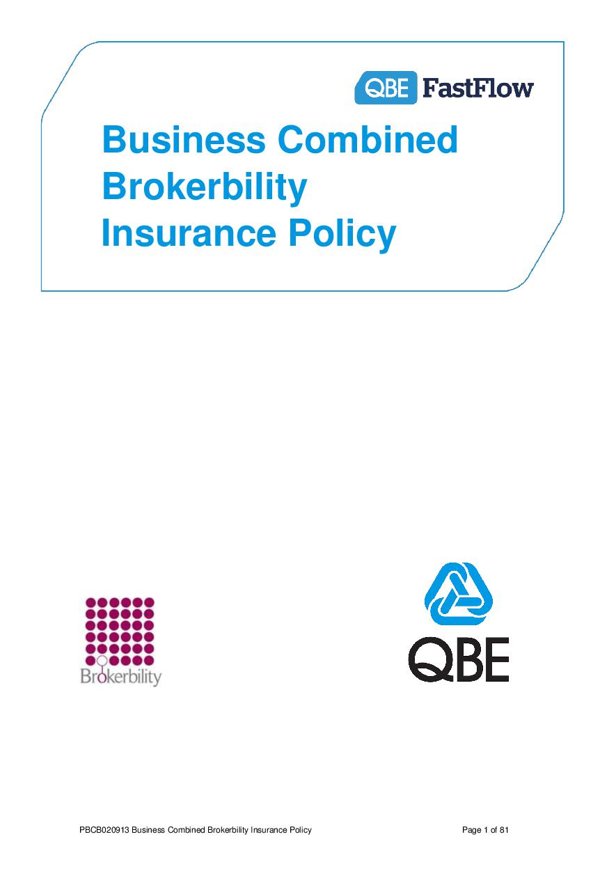 PBCB020913 Business Combined Brokerbility Policy (PDF 717Kb)