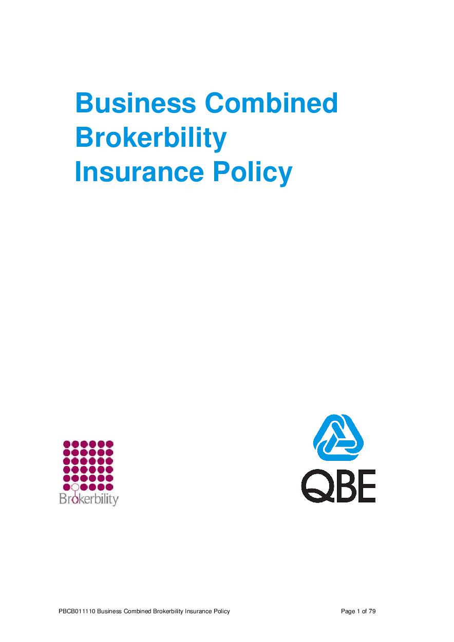ARCHIVE - PBCB011110 Business Combined Brokerbility Policy