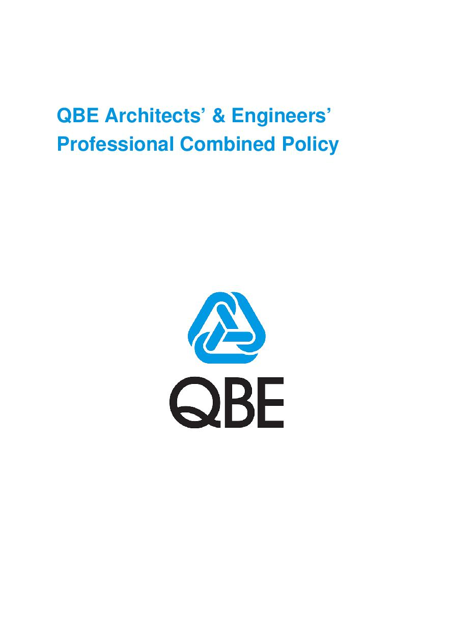 ARCHIVE - PJAS030913 QBE Architects' and Engineers' Professional Combined Policy