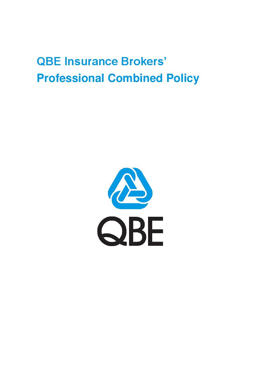 ARCHIVE - PJBL051015 QBE Insurance Brokers' Professional Combined Liability