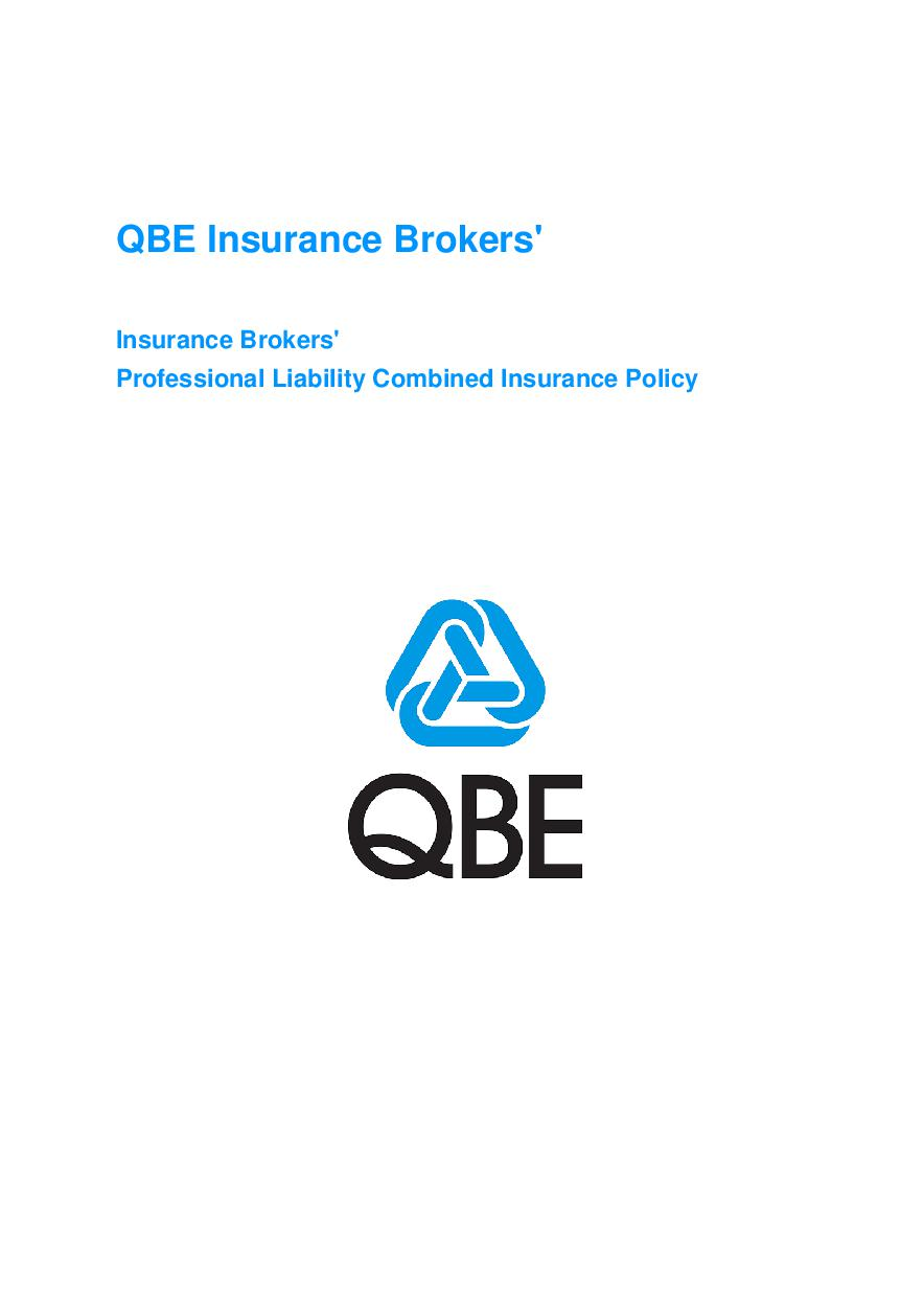 ARCHIVE - JBL020113 Insurance Brokers' Professional Combined Policy