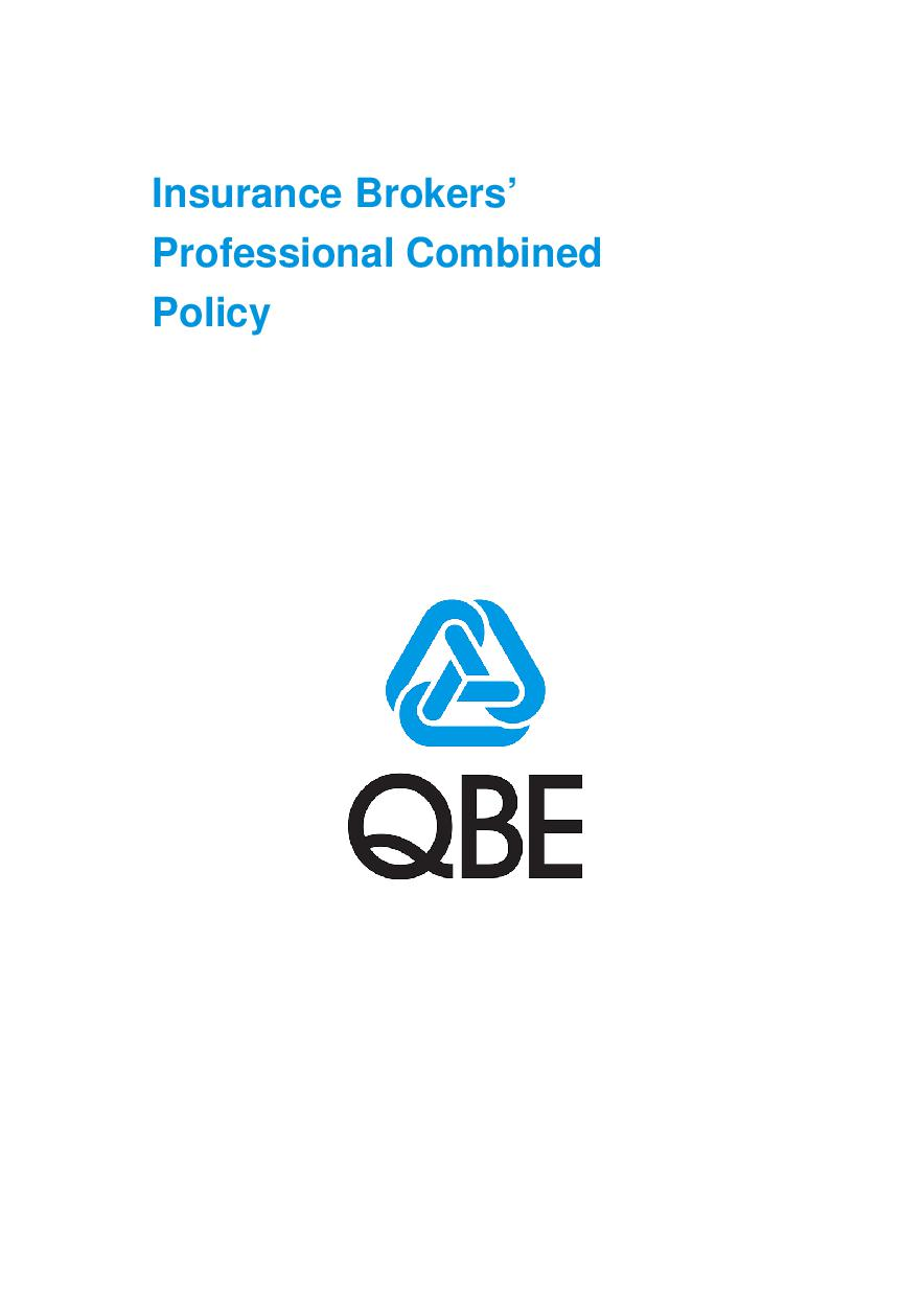 ARCHIVE - PJBL010412 Insurance Brokers' Professional Combined Policy