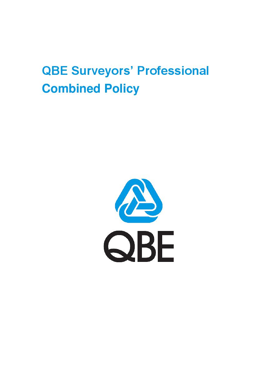 ARCHIVE - PJCT051015 QBE Surveyors' Professional Combined Liability