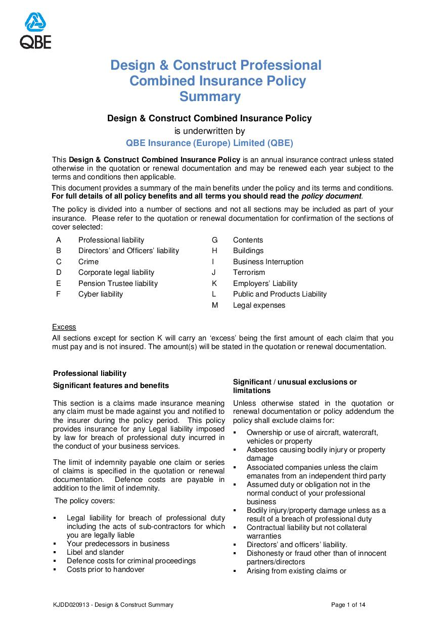 ARCHIVE - KJDD020913 Design and Construct Professional Combined Summary