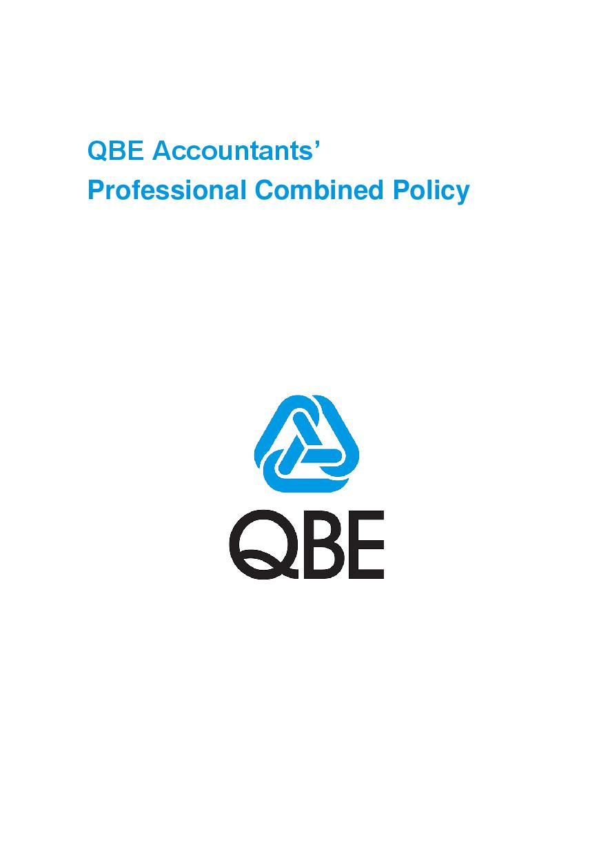 ARCHIVE - PJPB051015 QBE Accountants' Professional Combined Liability
