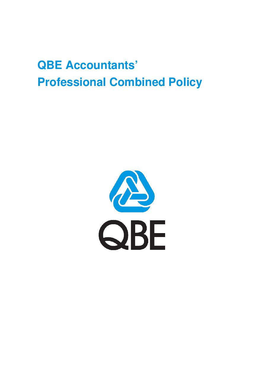 ARCHIVE - PJPB030913 QBE Accountants' Professional Combined Policy