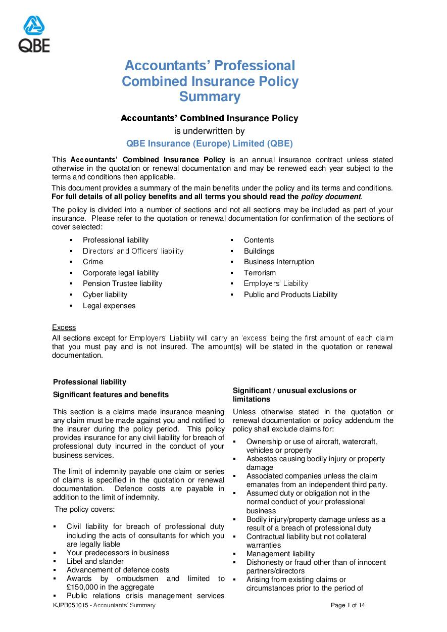 ARCHIVE - KJPB051015 Accountants' Professional Combined Summary