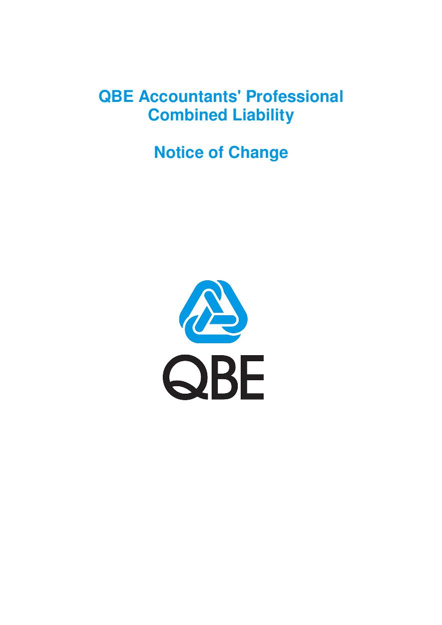 ARCHIVE - NJPB120816 QBE Accountants' Professional Combined Liability - Notice of Change