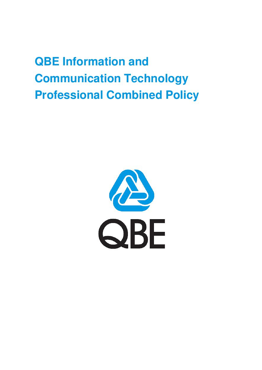 ARCHIVE - PJPV040515 QBE Information Communication Technology Combined Liability
