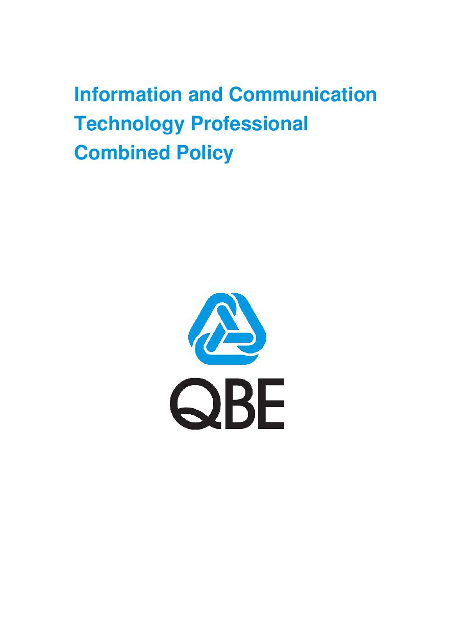 ARCHIVE - PJPV010412 Information and Communication Technology Professional Combined Policy