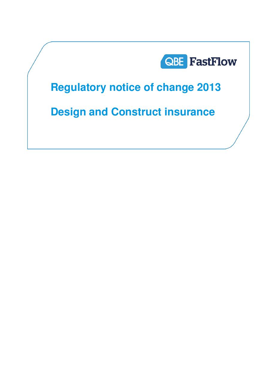 ARCHIVE - NFFW030913 FastFlow Regulatory Notice of Change 2013 (PI) - DC