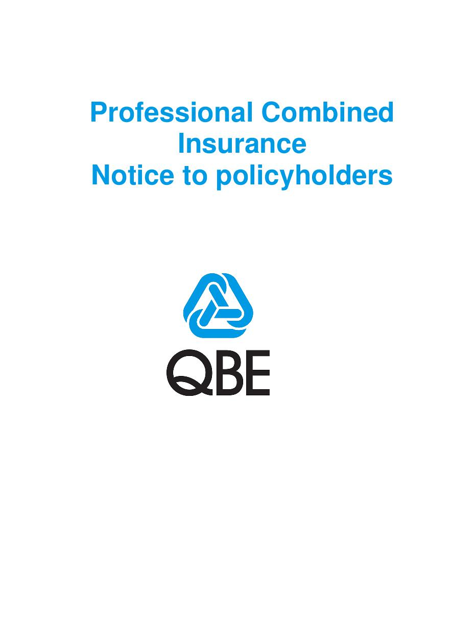 Professional Combined Notice to Policyholders (PDF 147Kb)
