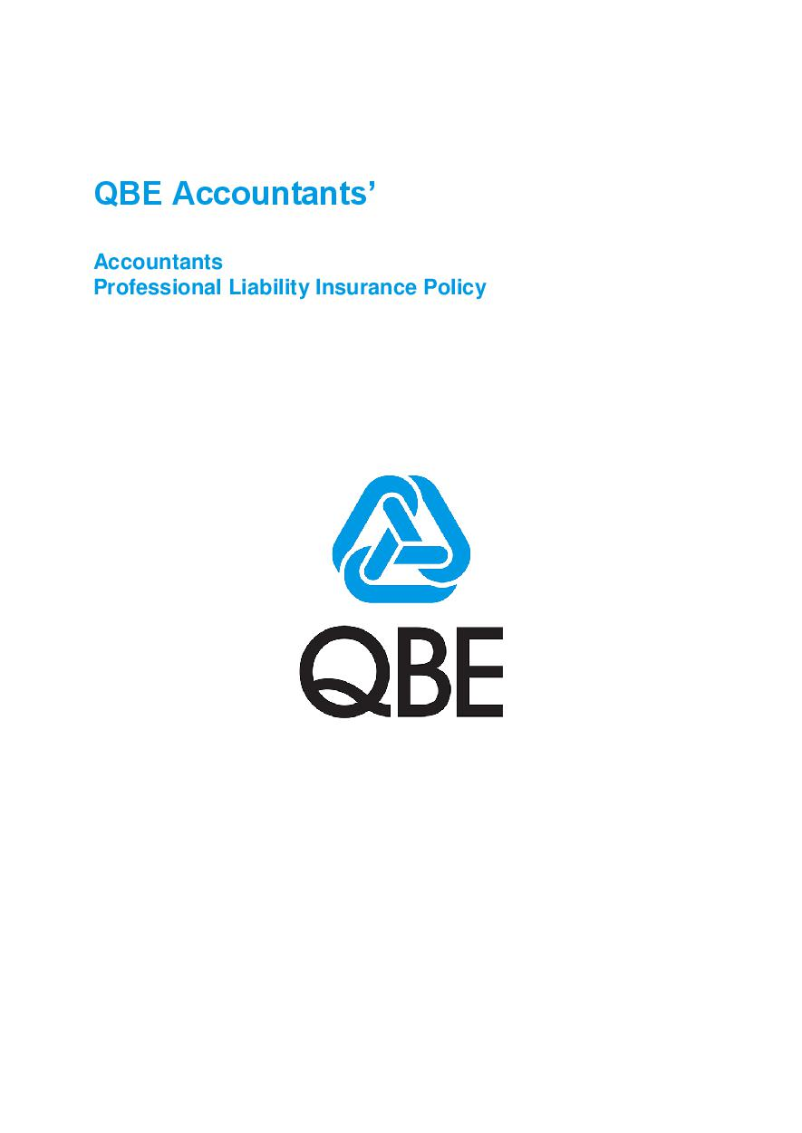 ARCHIVE - PJPP120816 QBE Accountants' Professional Liability Policy