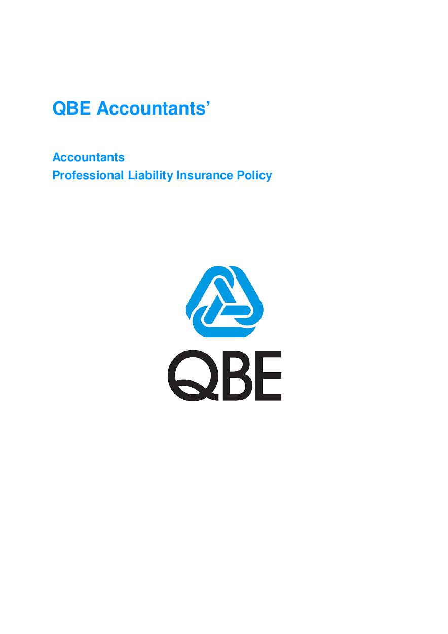 ARCHIVE - JPP020913 QBE Accountants' Professional Liability Policy
