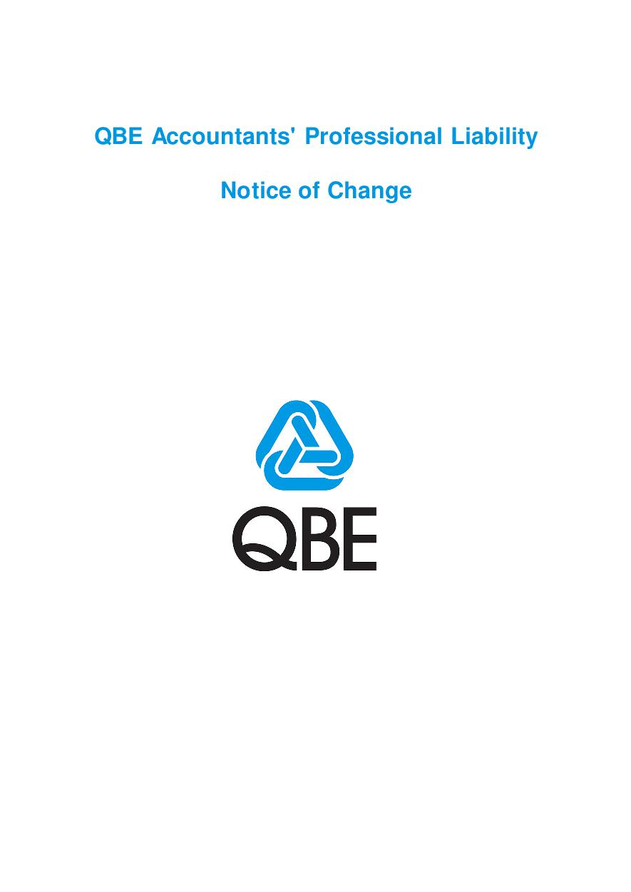 NJPP120816 QBE Accountants' Professional Liability Notice of Change
