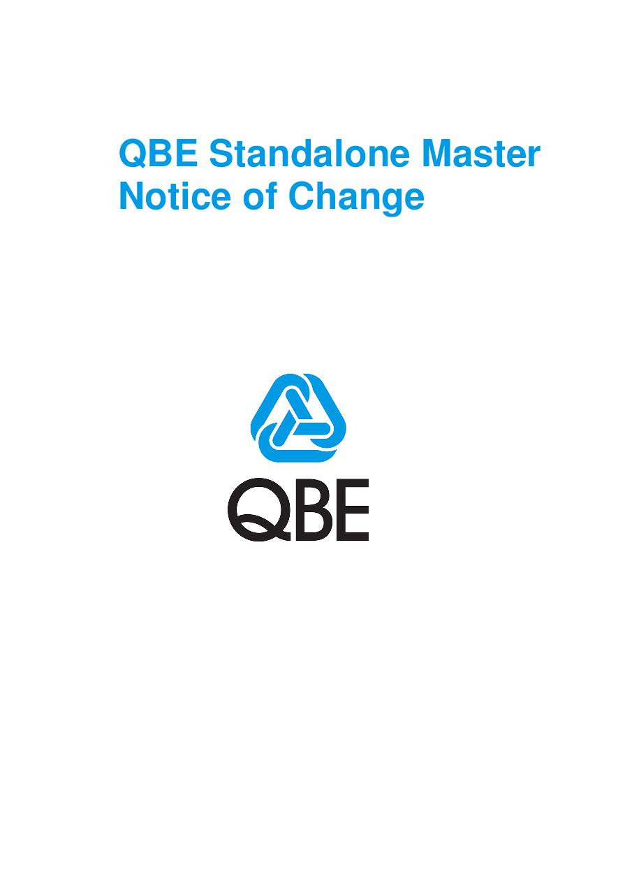 ARCHIVE - QFFF040515 QBE Standalone Professional Liability Notice of Change