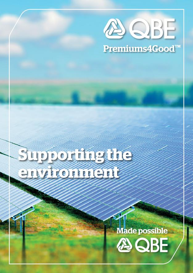 QBE Premiums4Good - supporting the environment (PDF 2.3Mb)