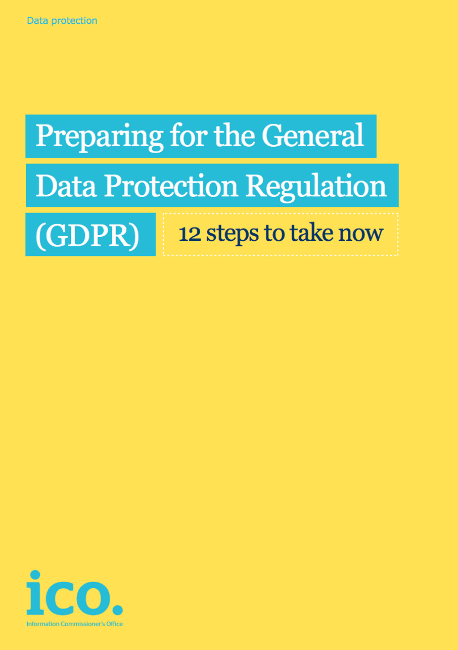 Preparing for the General Data Protection Regulation - GDPR (PDF 488Kb)